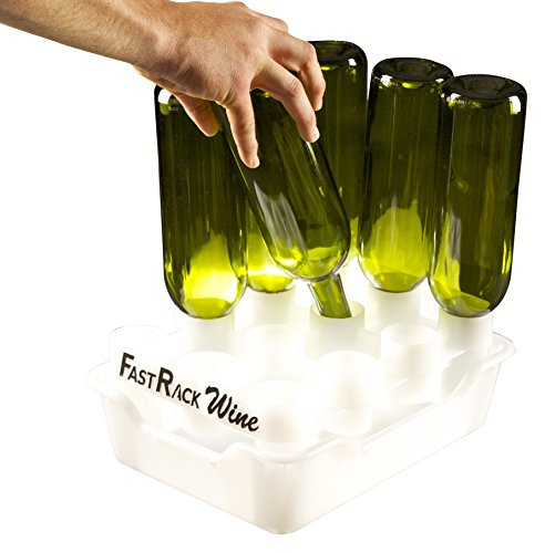 FastFerment FRWT1 Racks 1 Drip Tray Beer bottle cleaning drying and sanitizing FastRack12 One Rack One White