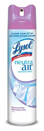 Lysol Neutra Air Sanitizing Spray Air Freshener Odor Neutralizer Morning Linen 10 oz