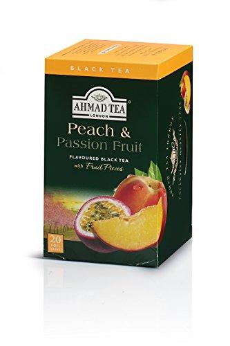 Ahmad Tea Peach Passion Fruit Black Tea 20-Count Boxes Pack of 6