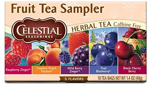Celestial Seasonings Herbal Tea Fruit Tea Sampler 18 Count Pack of 6