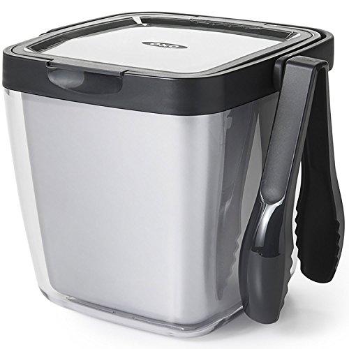 OXO Good Grips Double Wall Ice Bucket with Tongs and Garnish Tray