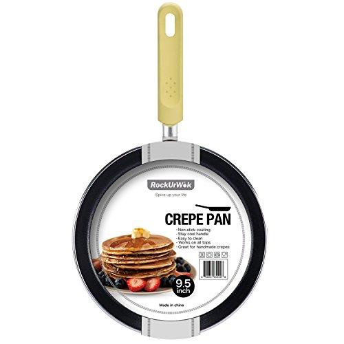 ROCKURWOK Nonstick 96-Inch Macaroon color Pancake Omelette Crepe Pan