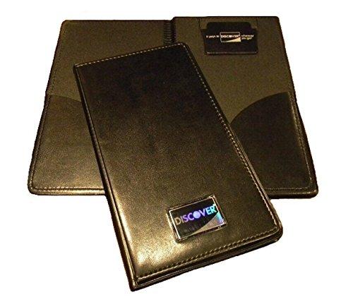 NEW Restaurant Waitstaff Waiter Waitress Double Panel Checkbook Presenter Leather Black Good Quality 25