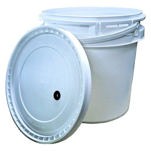2 Gallon Plastic Fermenter w drilled lid