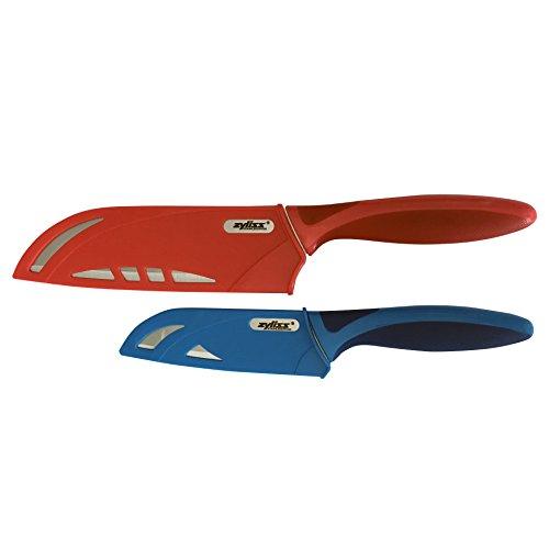 ZYLISS 2 Piece Santoku Knife Set with Sheath Covers Stainless Steel