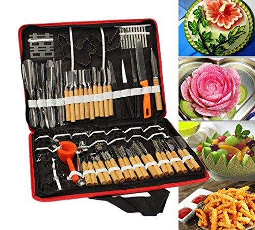 Accguan Set Portable W Box Vegetable Fruit Food Peeling Carving Tools Kit With Bag Pack 80pcs