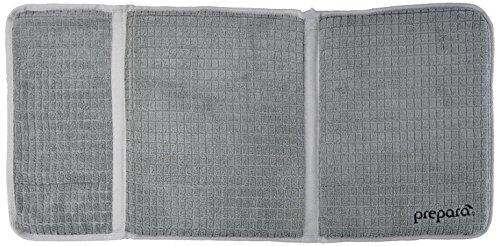 Prepara Extra Large Microfiber Hygienic Dish Drying Mat Drydock in Gray