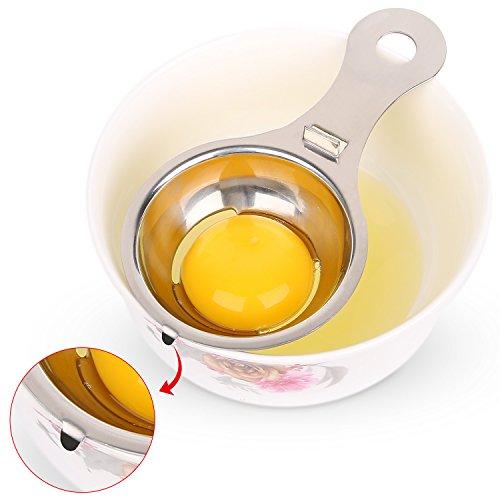 Anwenk Egg Separator Stainless Steel Egg White Yolk Filter Separator Dishwasher Safe Smart Kitchen Gadget