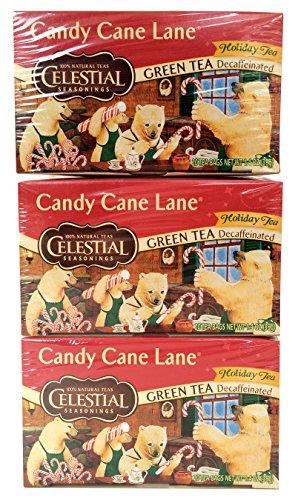 Celestial Seasonings Tea Decaf Candy Cane Lane Pack of 3
