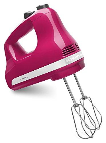 KitchenAid 5-Speed Ultra Power Hand Mixer  Cranberry Renewed