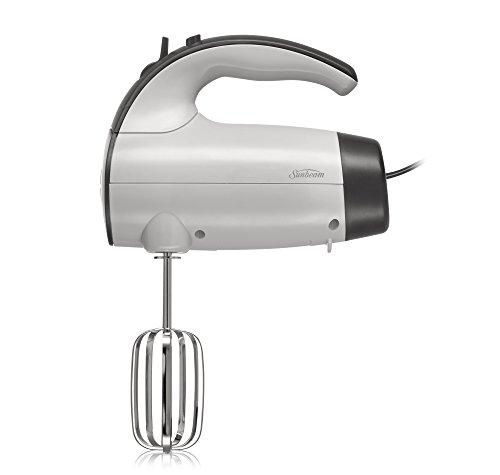 Sunbeam 2525 220-Watt 6-Speed Retractable Cord Hand Mixer WhiteGrey - 002525-000-000