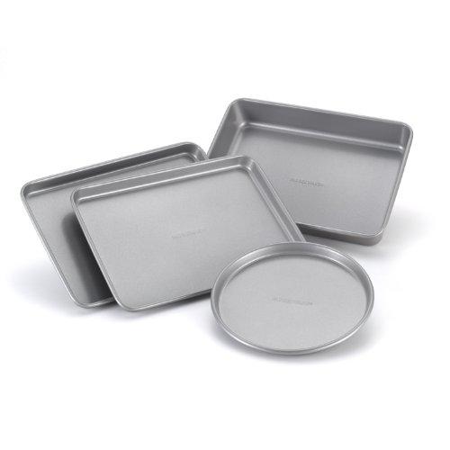 Farberware Nonstick Bakeware 4-Piece Toaster Oven Set Gray