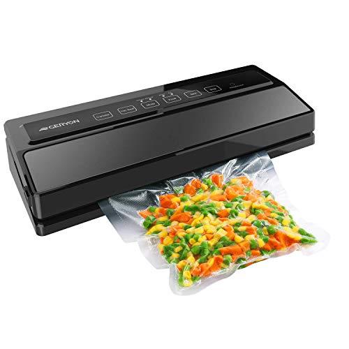 GERYON Vacuum Sealer Automatic Food Sealer Machine for Food Savers wStarter KitLed Indicator LightsEasy to CleanDry Moist Food Modes Compact Design Black Renewed