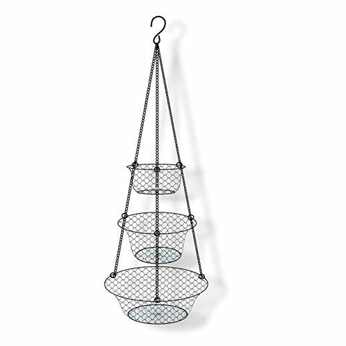 3-Tier Hanging Basket Storage Organizer for FruitsVegetables AccessoryPerfer for Kitchen and Bathroom