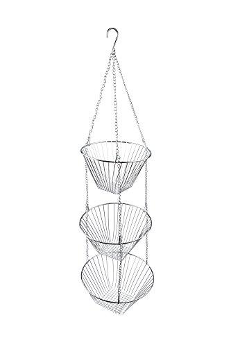 Fox Run 6312 Three Tier Hanging Wire Baskets Chrome