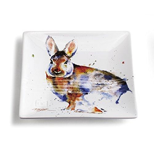 Big Sky Carvers Cottontail Snack Plate Multicolor