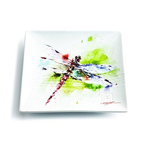 Demdaco 3005050311 Big Sky Carvers Dragonfly Snack Plate Multicolored