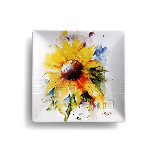 Demdaco 3005050988 Big Sky Carvers Sunflower Snack Plate Multicolored