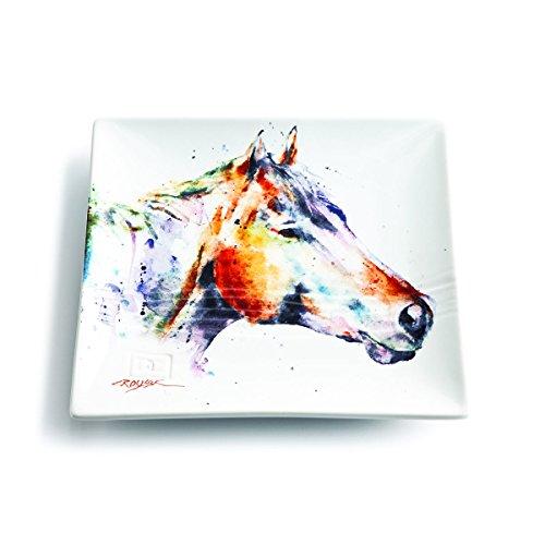 Demdaco 3005210345 Big Sky Carvers Horse Head Snack Plate Multicolored