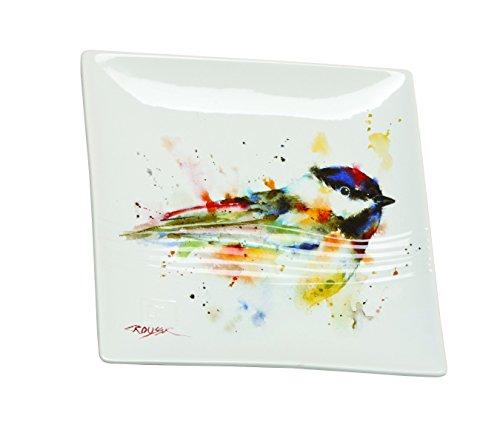 Demdaco B5050117 Big Sky Carvers Chickadee Snack Plate Multicolored