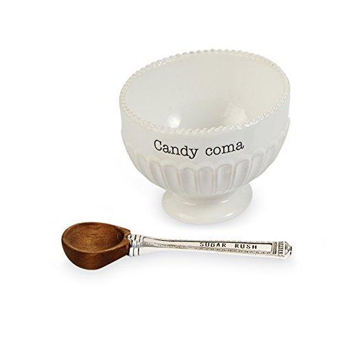 Mud Pie 4851112C Candy Dish White