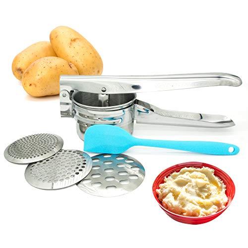 Potato Ricer Potato Masher Food Press with 3 Interchangeable Discs for Potatoes Fruit Juice Lemon Orange ground meat mashed potatoes