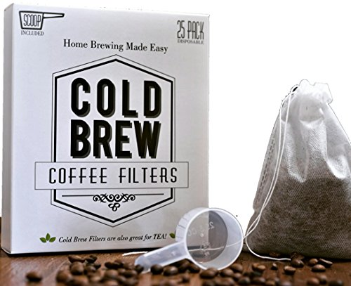 The Original Disposable Cold Brew Coffee Filter Bags 2 Quart  Make 200 Servings of Cold Brew Iced Coffee at Home without a Coffee Maker Cold brew is great mixed with protein powder for your shake