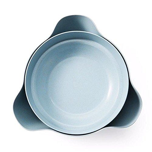 Astra Gourmet Double Dish Nut Bowl Pistachio Bowl Pedestal Snack Dish Olive Nut Server Serving BowlBlue
