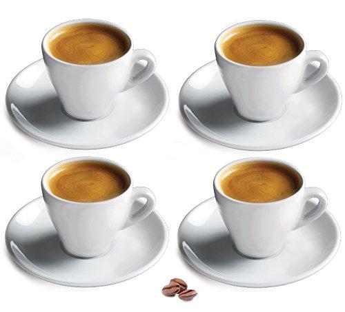 Cuisinox Porcelain Espresso Cups Set of 4 White