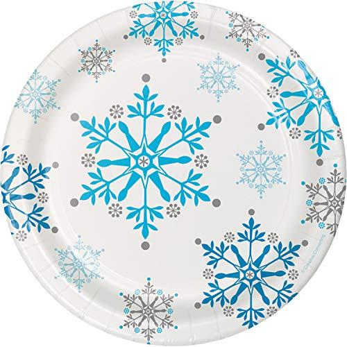 Snowflake Swirls Dessert Plates 24 ct