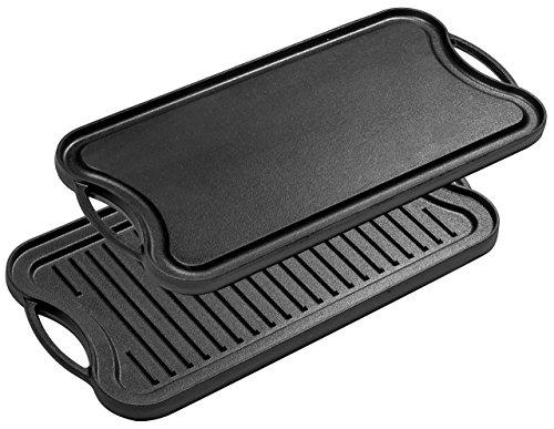 Bruntmor Pre-Seasoned Cast Iron Reversible GrillGriddle Pan 20-inch x 10-inch
