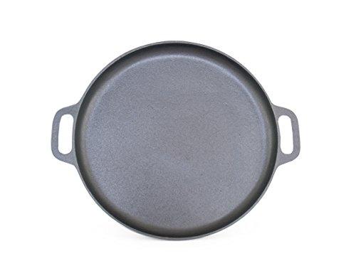 ForHauz Pre-Seasoned Cast-Iron GriddlePizza Pan 14