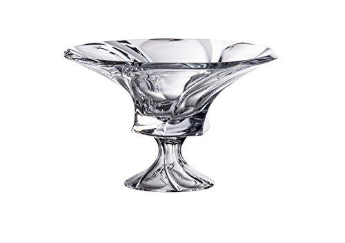 Aurum Bohemia Crystal Footed Bowl Mozart 12 Dia Decorative Wedding Gift Crystal Vase on a Stem Elegant Centerpiece Candies Fruit Bowl Figurine
