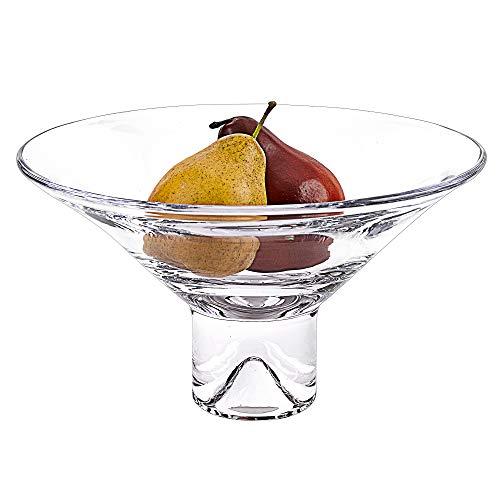 Badash - Monaco European Mouth Blown Lead Free Crystal Pedestal Bowl Diameter 12 Stands 9 Tall