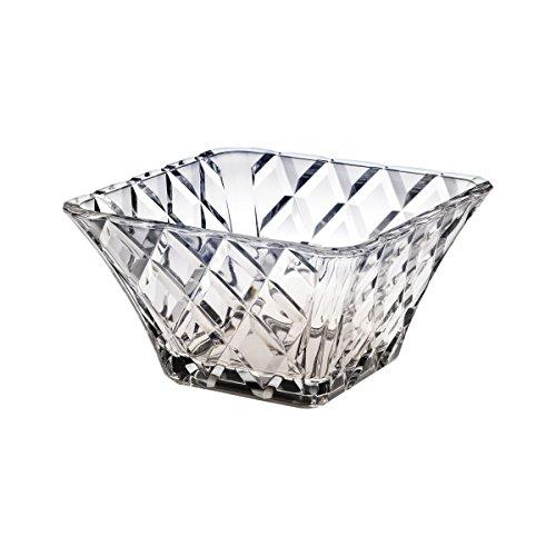 Mikasa Crystal 10 Inch Diamond Sparkle Square Bowl