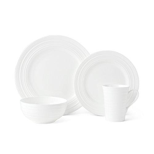 Mikasa 5224193 16 Piece Ciara Bone China Dinnerware Set White