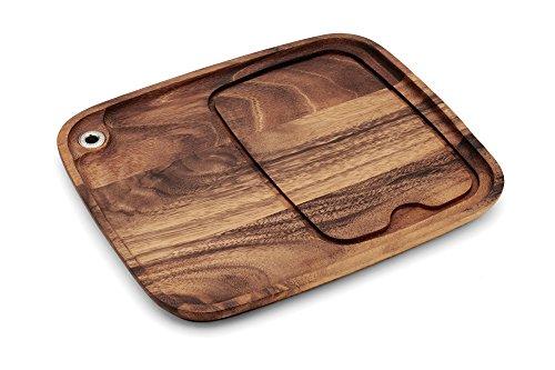 Ironwood Gourmet 28101 Fort Worth Steak Plate Acacia Wood