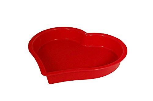Marathon Housewares Kw200019 Premium Silicone Bakeware Heart Cake Pan - Red
