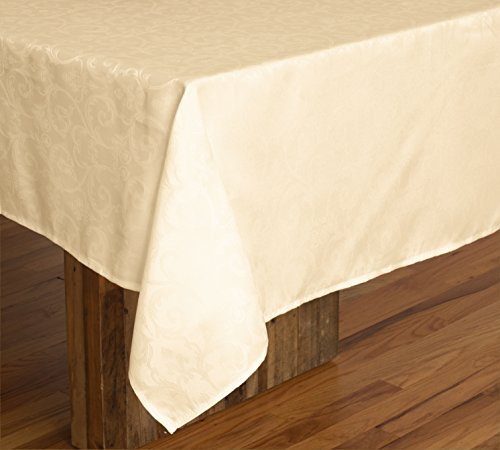 Bed Bath Outlet 60 X 84 60 X120 Rectangular Polyester Tablecloth Washable Tablecloth Dinner Picnic Table Cloth Home Decoration 60X 84 FLORAL BEIGE