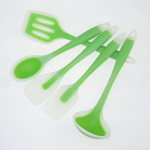 Adidome Kitchen Tools Kitchen Utensils Silicone Case 5 Piece Spatula Spoon Kitchen Spatula