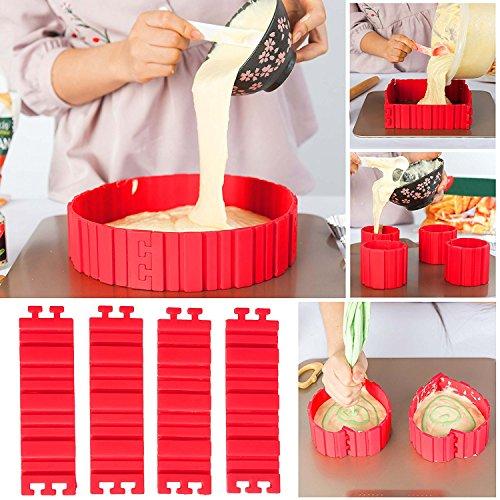 SENCHEN4pcs silicone cake mold bake snake DIY modeling baking cake Mould Tools for kitchen