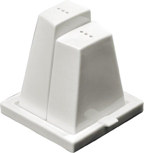 Deagourmet GEO 3pc White Porcelain Salt Pepper Shaker Set