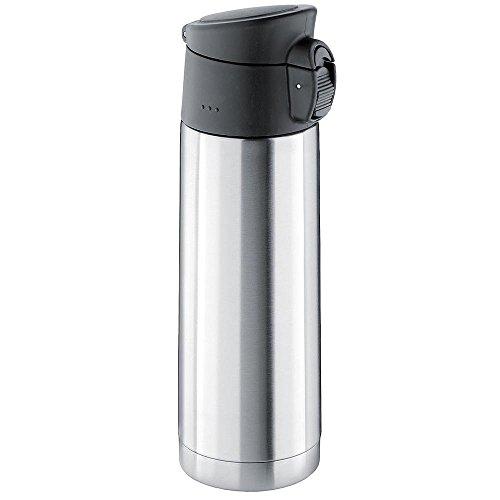Isosteel VA-9585 leakproof Vacuum Travel Mug Flip Top 15 fl oz Double-walled 188 stainless steel