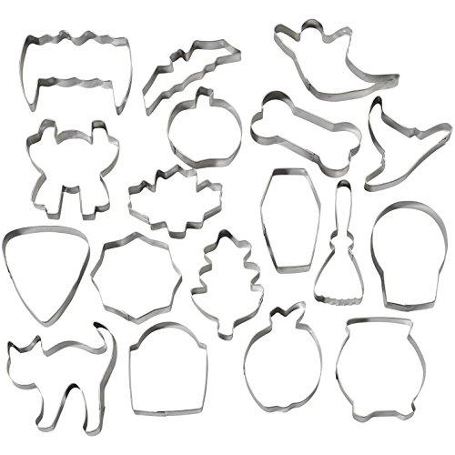 Wilton 2308-2014 Halloween Metal Cookie Cutter Tub