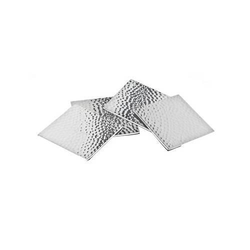 Godinger Silver Square Hammered Coasters S4