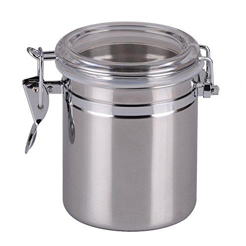 Awakingdemi Clip Top Jars Coffee Tea Storage Canister Set Stainless Steel Jars Medium