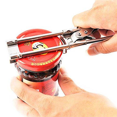 ShungHO Manual Adjustable Stainless Steel Jar Lid Opener Can Opener Bottle Jar Lid Gripper Opening Tool