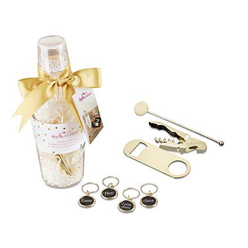 Kate Aspen 00156NA Barware Gift Clear Acrylic Cocktail Shaker Bar Set gold