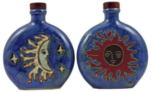 Mara Ceramic Stoneware 20 Oz Celestial Round Decanters