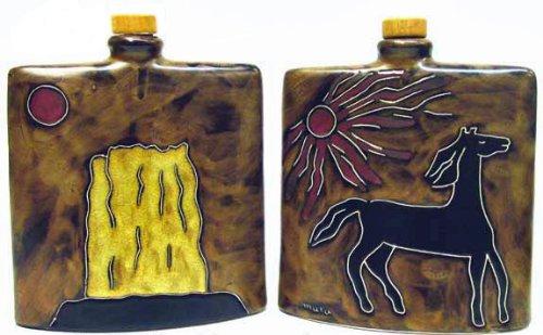 Mara Ceramic Stoneware 24 Oz Horses Square Decanter